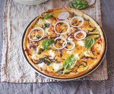 Cibulový koláč s mletým masem | Recepty Albert Vegetable Pizza, Quiche, Food And Drink, Vegetables, Breakfast, Morning Coffee, Quiches, Vegetable Recipes, Veggies