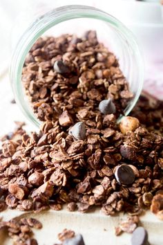 Dark Chocolate Sea Salt Granola {Butter and Oil Free} - The Nutritious Kitchen