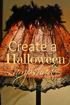 46 best halloween lamp shades images on pinterest holidays create a whimsical halloween lampshade aloadofball Images