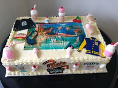 Cake riverdale 😍❤😍 by 14th Birthday Cakes, Bithday Cake, Birthday Cakes For Teens, 13th Birthday Parties, Themed Birthday Cakes, Themed Cakes, Riverdale Merch, Bughead Riverdale, Riverdale Funny