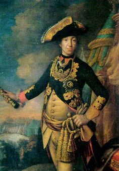 "Childish Tsar Peter III of Russia (1728-62), a Prince of Holstein-Gottorp. He was the husband of Catherine II ""The Great"", a former Princess of Anhalt-Zerbst. She had him murdered and ascended the Russian throne herself."