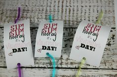A Treat-Free Valentine's Day - ParentMap no candy, alternatives to food, straw valentine, sip sip hooray