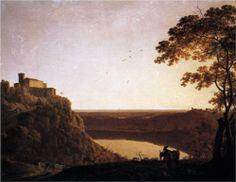 View of the Lake of Nemi - Joseph Wright