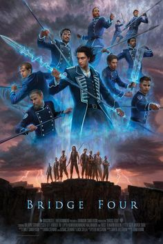 Way of Kings Kickstarter: Bridge Four Poster Reveal Fantasy Books, Fantasy Characters, Fantasy Art, Fantasy Images, Character Inspiration, Character Art, Character Design, Character Reference, Kaladin Stormblessed