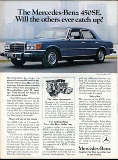 008cd3750f 1974 Mercedes-Benz 450SE as advertised in Road  amp  Track Magazine