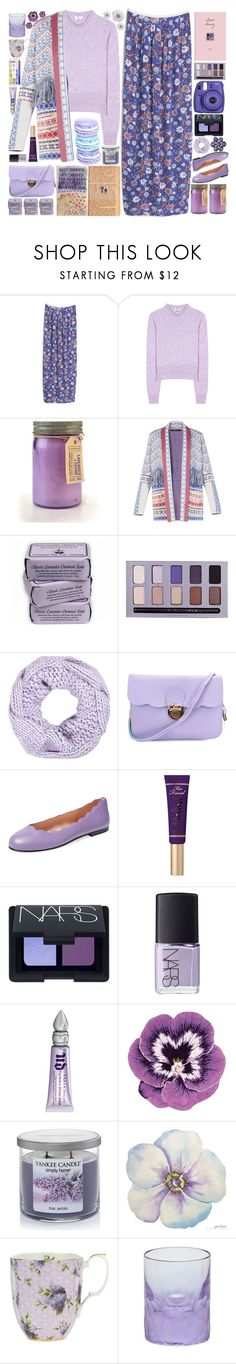 """Lavender"" by doga1 ❤ liked on Polyvore featuring MANGO, Acne Studios, Paddywax, BCBGMAXAZRIA, Stila, River Island, French Sole FS/NY, Too Faced Cosmetics, NARS Cosmetics and Urban Decay"
