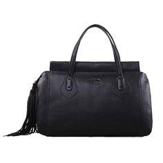 Gucci Original Leather Lady Tassel Top Handle Bag 354469 Black - $279.00