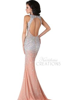 Envious Couture by Karishma Creations 3687 Sequin Evening Gown