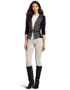 Rebecca Taylor Women's Leopard Knit Blazer, Grey/Black « Impulse Clothes