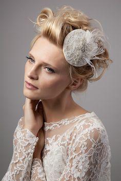 Vintage-inspired bridal headdresses