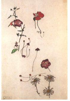 """""""Study with Flowers"""", Egon Schiele"""