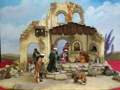 Christmas Nativity Set, Ceramic Houses, Portal, Tenerife, Crib, Print Patterns, Lettering, Google, Christmas Manger