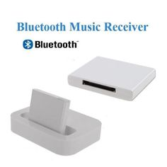 AGPtek® 30 pin Dock Speaker Adapter (white with LED indicator) for Bluetooth Audio Devices like iPhone, iPod, iPad, Tablet PC, PS3 and Android Smart Phones by AGPtek. $9.59. NOTE: please make sure your dock build-in charge function before ordering it. (Just plug the iPhone or iPod into the dock, if it can charge your iPhone or iPod, that means your dock could charge this adapter.)  Methods used: Step 1: Bluetooth music receiver connects directly to iPod/iphone/iPa...
