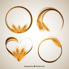 More than a million free vectors, PSD, photos and free icons. Exclusive freebies and all graphic resources that you need for your projects Wheat Drawing, Wheat Tattoo, Coffee Cup Tattoo, Beer Images, Bakery Logo Design, Menu Design, Dragonfly Tattoo, Frame Wreath, Graphic Design Typography