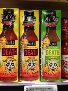 Blair's Original Death Sauce! Hilarious but a real product!