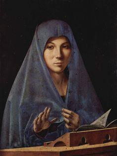 ANTONELLO DA MESSINA (1430 - 1479)   Vergine dell'Annunciazione