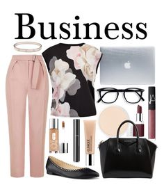 """Business"" by amandamallie on Polyvore featuring Incase, Clinique, Topshop, Ted Baker, Nine West, Givenchy, NARS Cosmetics, Chanel and Cartier"
