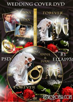 Stylish wedding package - cover for DVD and blowing on the disc - Together forever