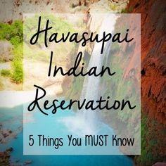 Havasupai Indian Reservation I Havasu Falls I Hiking Grand Canyon I Mooney Falls I Havasu Tips Usa Travel Guide, Travel Usa, Canada Travel, Travel Tips, Havasupai Falls, Arizona Travel, Arizona Trip, Indian Reservation, Camping Places