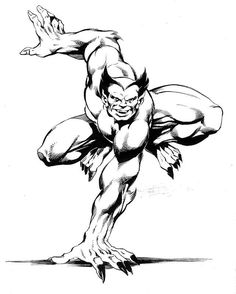 THIS is how the Beast should always look.  Now just make him blue. Art by John Byrne.