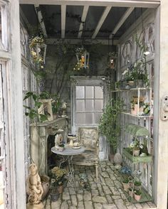 Fun She Shed Conversion Ideas Outdoor Storage Sheds, Outdoor Sheds, Outdoor Gardens, Garden Shed Interiors, Garden Sheds, Shed Blueprints, Home And Garden Store, Muebles Shabby Chic, Vintage Gardening