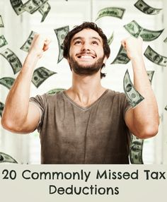 20 Commonly Missed Tax Deductions #taxes #tips http://www.momsreview4you.com/2014/02/20-commonly-missed-tax-deductions.html