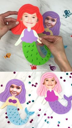 Summer crafts for girls - DIY with kids - Craft Diy With Kids, Summer Crafts For Kids, Diy For Girls, Summer Kids, Kids Girls, Preschool Summer Crafts, Fun Crafts For Girls, Summer Sun, Under The Sea Crafts