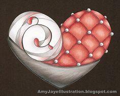 Ornate Heart by Amy Jayel Illusytation