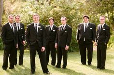 Great setting for this picture of the groom and his groomsmen