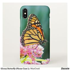 Glossy Butterfly iPhone Case