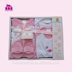 100% algodón recién nacido 7 unidades bebé caja de regalo conjunto canastilla bebé-imagen-Sets de ropa para bebes-Identificación del producto:60632087055-spanish.alibaba.com