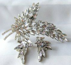 Vintage Juliana Brooch Earring Set D&E by BrightgemsTreasures, $125.00