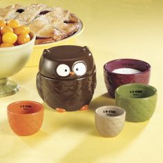 Set of Five Wise Owl Measuring Cups - Furniture, Home Decor and Home Furnishings, Home Accessories and Gifts | Expressions