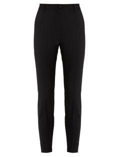 DOLCE & GABBANA High-Rise Stretch-Wool Trousers. #dolcegabbana #cloth #trousers