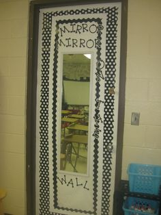 FAIRY TALE THEME- mirror, mirror on the wall. Post mirrors and have students read aloud to themselves for 1 min (build fluency)