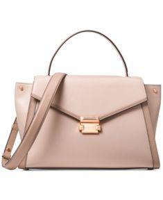 2e0169ba32e0 Michael Michael Kors Whitney Large Satchel - Red Leather Satchel Handbags