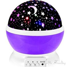 Retail: $24.95-> NOW: $54.90 (Limited time only) BabyTimesOriginals Exclusive! Not available in stores. Today's Offer: Buy 2 lights or more and get 15% OFF! Use coupon code LIGHT15OFF at checkout ----------------------------- Starry sky night light projector - Projects a complete starry night sky onto the walls and