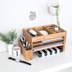 Wood home office desk supplies organiser office storage desk tidy dock station office desk ideas of office desk officedesk cute desk accessories unique organizers desktop electronics etsy 35 inspiration for small space bedroom decorating ideas Small Storage Boxes, Small Space Storage, Desk Storage, Storage Caddy, Bedroom Storage, Bedroom Desk, Art Caddy, Furniture Storage, Paper Storage