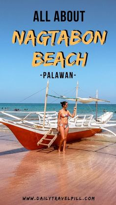 This is the best beach in Puerto Princesa, Palawan. Hidden from all the tourists, Nagtabon Beach is a true hidden gem! Check it out! Beautiful Pools, Most Beautiful Beaches, Spain Travel, Asia Travel, Mexico Travel, Beach Trip, Beach Vacations, Hawaii Beach, Oahu Hawaii