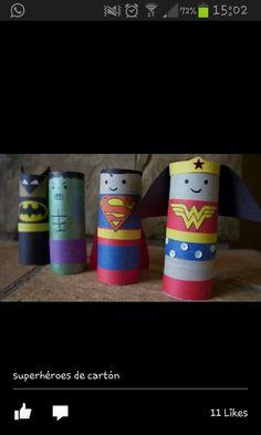 Amb rolls de paper fem superherois!