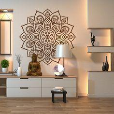 Mandala Wall Art Decal for Indoor & Outdoor Use - Mandala Wall Sticker, Mandala Indian Wall Decor Home Yoga Room, Yoga Room Decor, Yoga Studio Home, Meditation Room Decor, Room Wall Decor, Yoga Studio Decor, Yoga Rooms, Wall Decor Design, Art Decor
