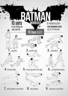 """""""Bat Man"""" workout."""