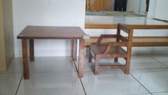 Weaning table and chair.