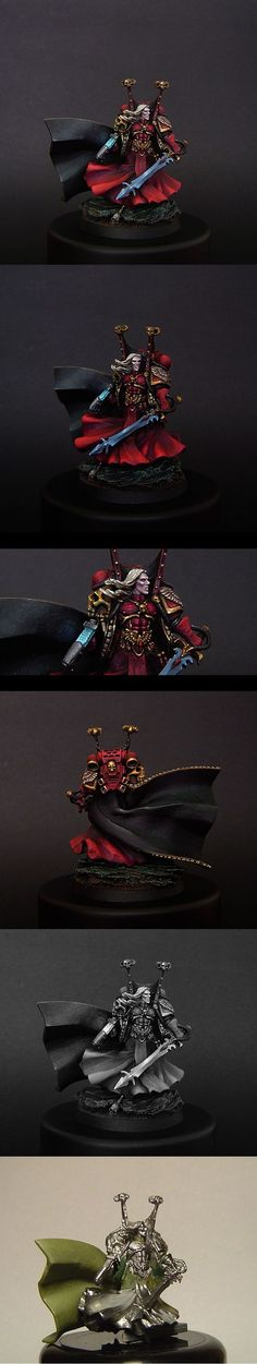 Space Marines : Blood Angels - Exhibition of miniatures painted by other artists around the world: