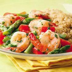 Lemon-Garlic Shrimp & Vegetables - Gluten free • 35 mins to make • Serves 4