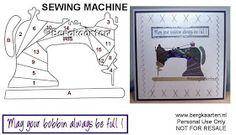 Sewing Machine Iris Fold Card