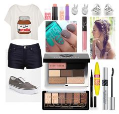 """""""Untitled #41"""" by leahb109 on Polyvore featuring Vans, Christian Dior, Elizabeth Arden, Maybelline, Bobbi Brown Cosmetics, NARS Cosmetics, Georgini and Rock 'N Rose"""