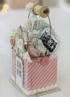 Maya Road Design Team: No Ordinary Moments Gift Altered Boxes, Altered Art, Diy And Crafts, Arts And Crafts, Paper Crafts, Craft Box, Creative Gifts, Gift Baskets, Diy Gifts