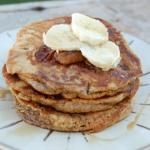 100 Days of Real Food...great blog with so many meal planning ideas.  Whole wheat banana pancakes, yum!