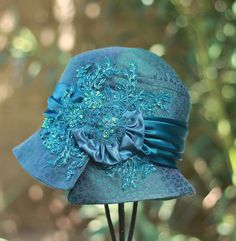 1920's Beaded Cloche Hat Sequins Gala Event Gliz by BuyGail, $175.00